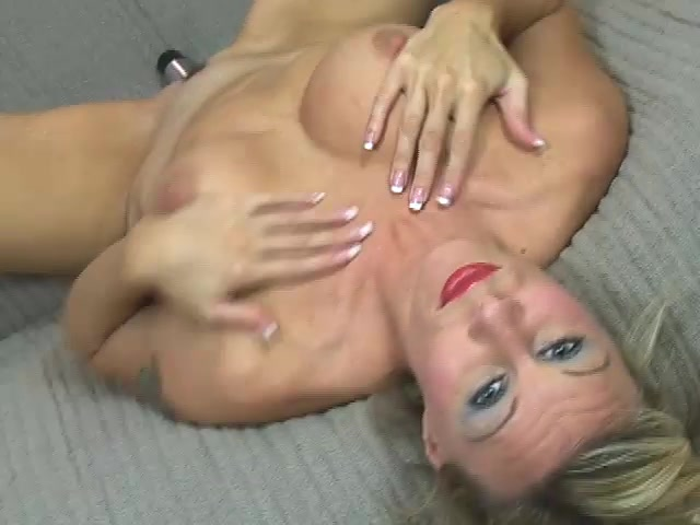 Video from AuntJudys: chick lick her tits and play with her pussy mom caught by son