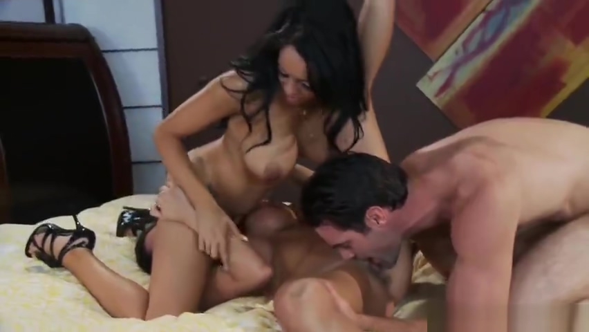 Group sex sex video featuring Breanna Sparks and Ariella Ferrera