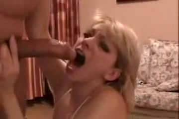 Amateur MILF wildly gulping on my dong in the homemade video
