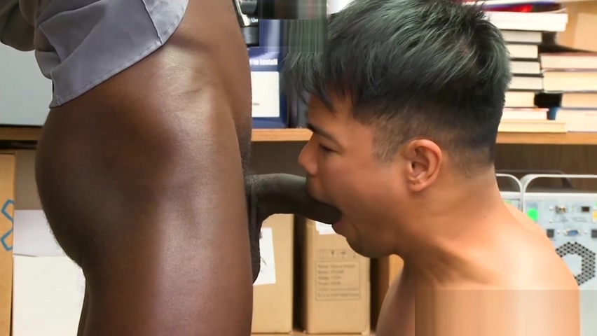 Asian twink thief barebacked by black BBC security guard Orgy truth or dare free videos