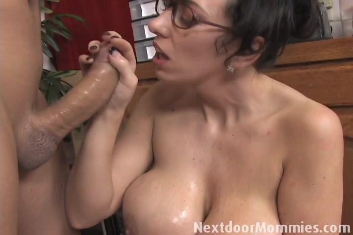 Next Door Mommies - Next Door Mommies: Big breasted mom strokes a black cock ...