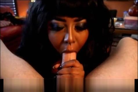 Sexy Ebony Blowjob And Titfuck