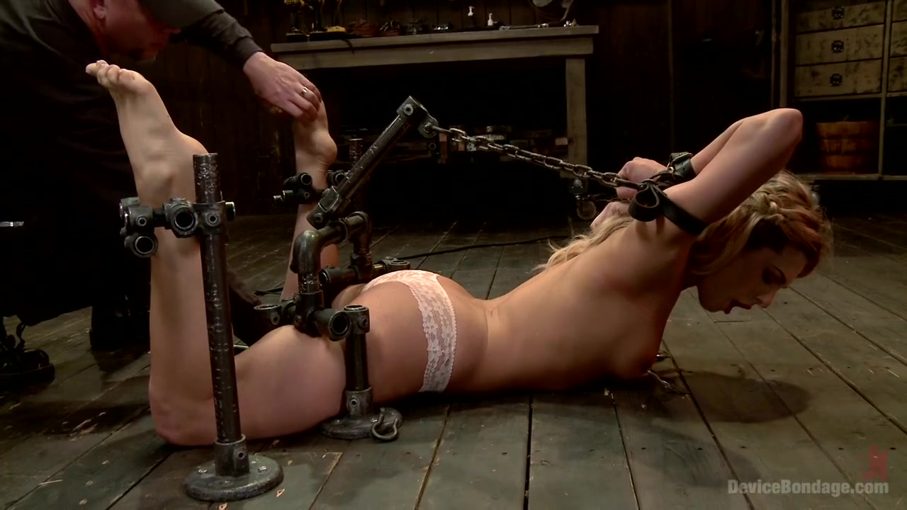 Dahlia Sky aka Bailey Blue Destroyed by Brutality Bdsm Girl Pounded By Machine