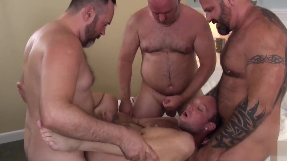 Fat Sebastian and dudes use throats, mitts and peckers while group hard plowing Monster natural tits