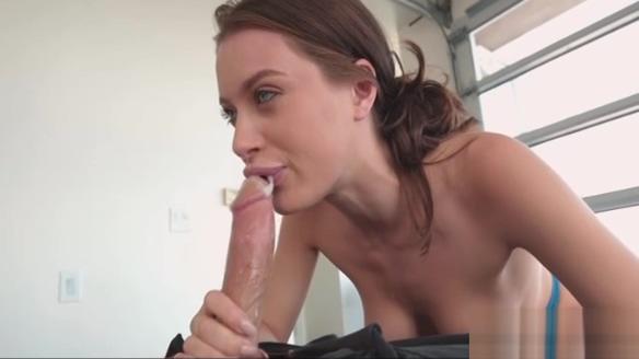 Sexy brunette Lana Rhoades riding videos of sexy girls striping