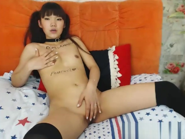 Cute Tiny Tits Asian Teasing And Cunt Rubbing