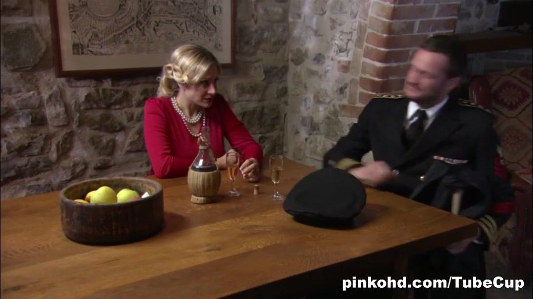 PinkoHD XXX video: Due Gatti Redhead whore blowjob cock load cumm on face