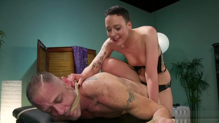 Masseuse mistress torments tied up guy