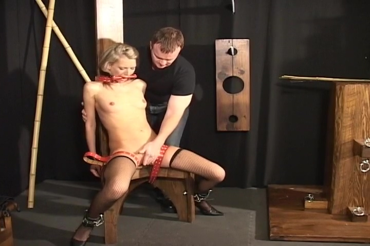Blonde Womana With Glasses Gets Bound And Gagged Big titties flap pussy