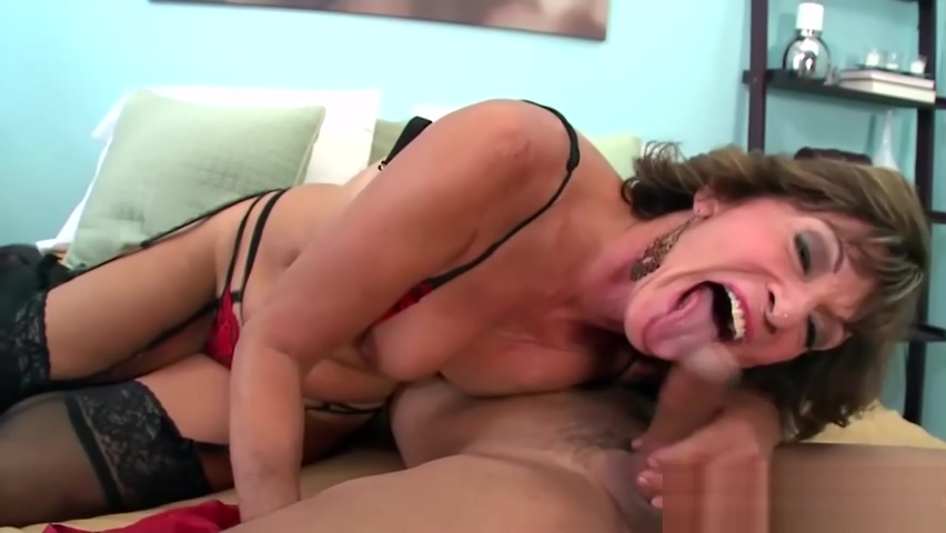 Anal With Granny in Lingerie Shaved Nut Sack