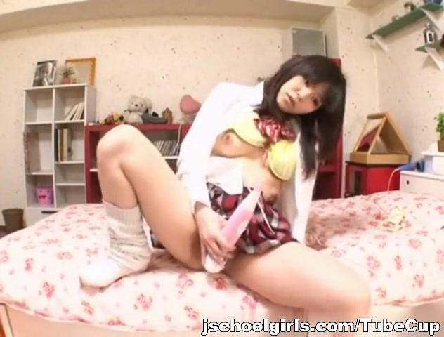 Lovely Asian model masturbates on webcam