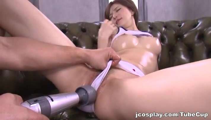 Yuria Satomi naughty milf in wet clothes gets dildo insertion Fucking a college chick