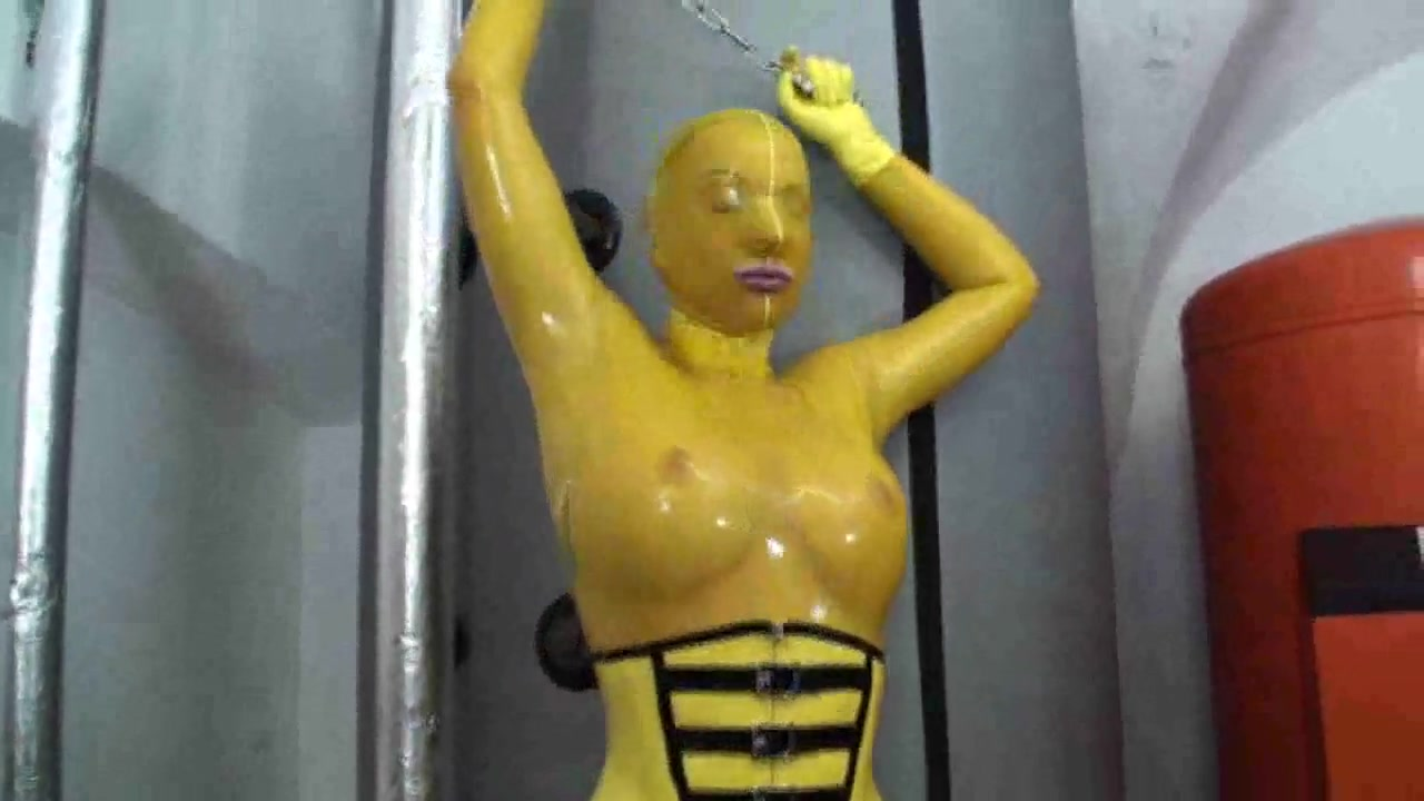 Hot girl in latex glamour yellow catsuit gets to climax black sex orgy free video trailers