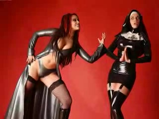 Nuns Have To Be Crayz-two- Nun in Latex