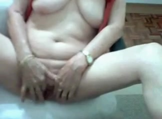 Brazilian Granny 62 years old - solo Milf housewife pussy