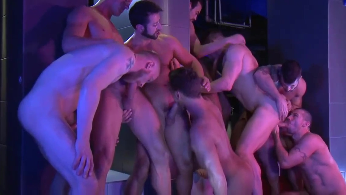 Group Sex - Nine-Man Bareback Orgy Sex video japan story