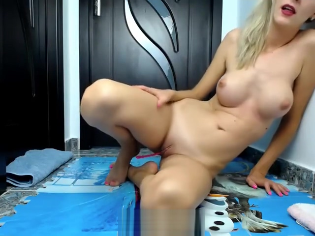 Teen blonde with big tits private cam amazing