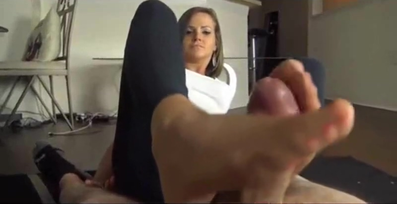 Girlfriend gives nylon footjob to her boyfriend. xbox 360 blue ray drive