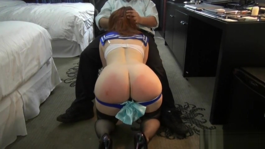 Cute girl in uniform spanked hard as she squeezes cock between her tits Free asslick creampie tube movies
