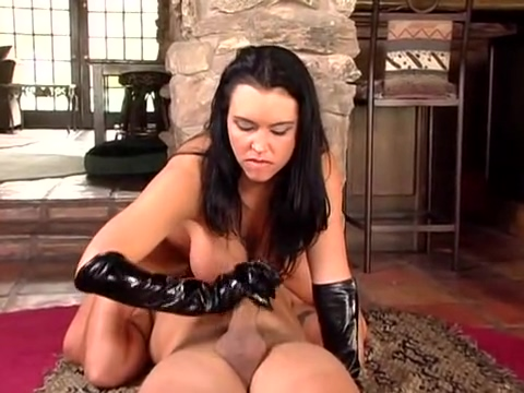 handjob from babe in pvc gloves and boots Only naked women image