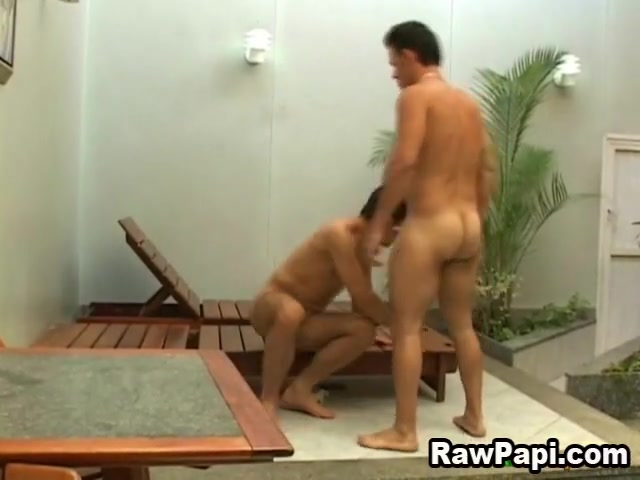 Latin Pool Bareback Anal while pregnant