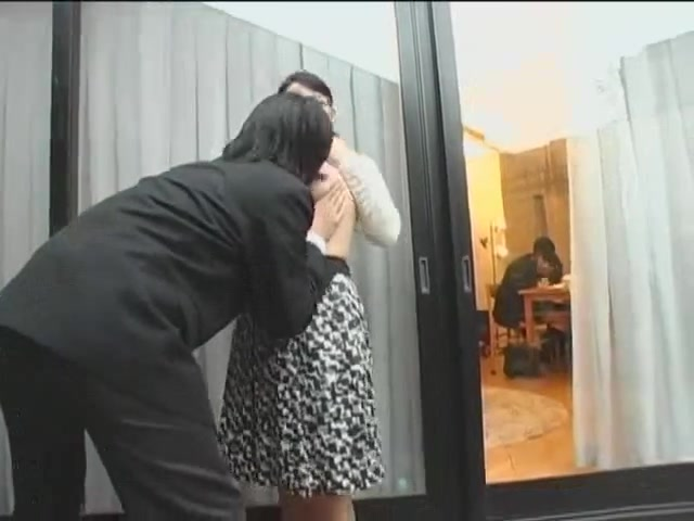 Nerdy Japanese wife gets screwed on a quickie Mature pink soles in well worn wedges