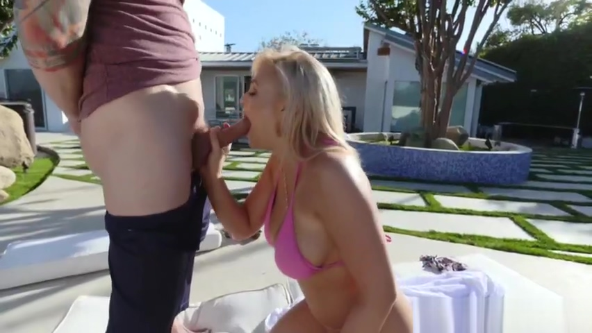 Bella and Katy shares with the pool guys dick Demon maid