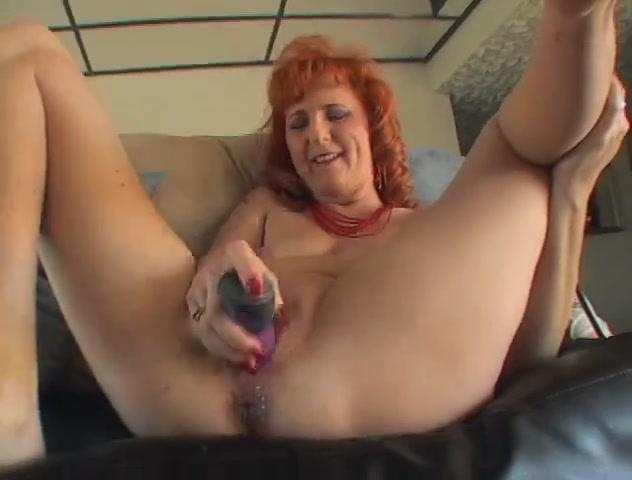 Older redhead dildos