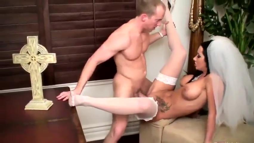 Brunette bride gets a hard surprise in her willing cunt