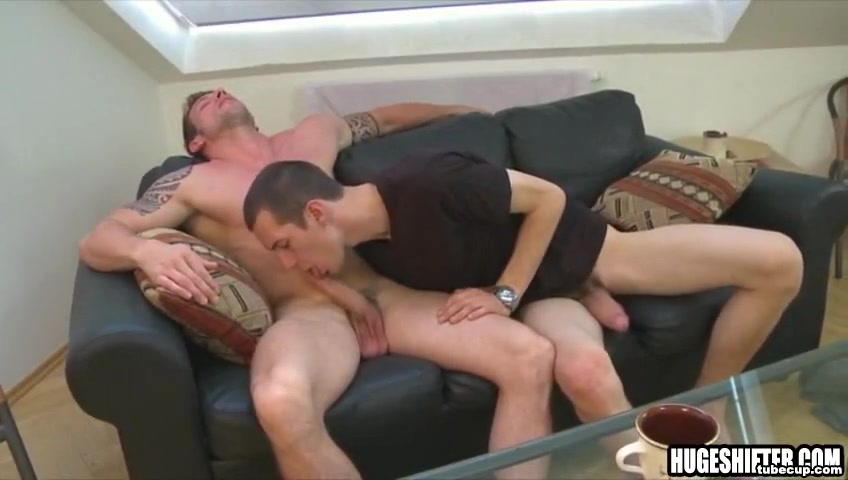 Big cock stud bareback fucked on a couch movies with sex and romance