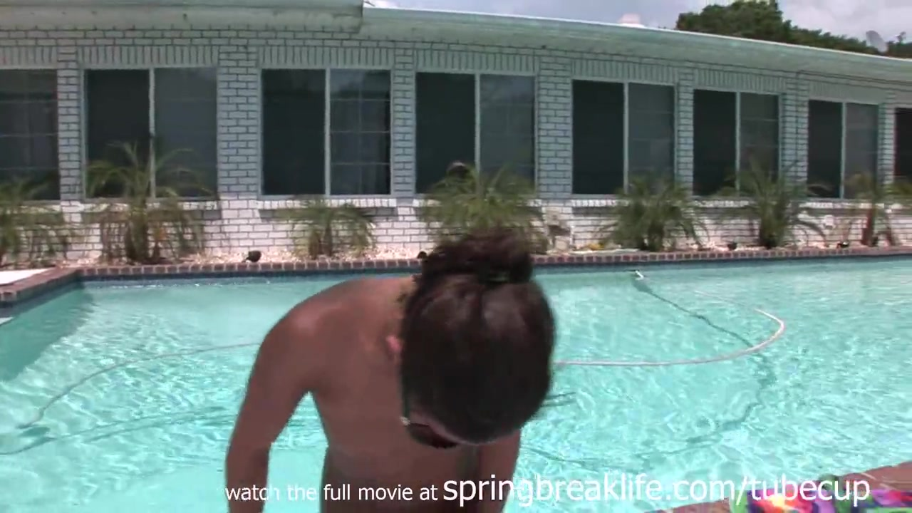 SpringBreakLife Video: Naked Chillin By The Pool Xxx Sax Tube