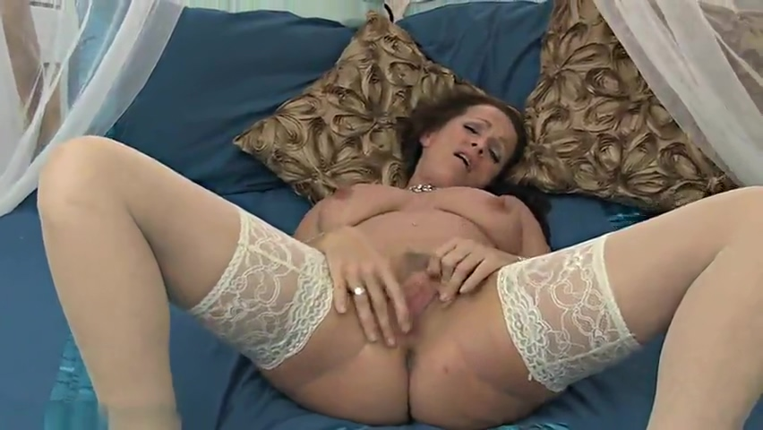 Brunette mature maid Marlyn Lindsay taking part in stripping sex movie-