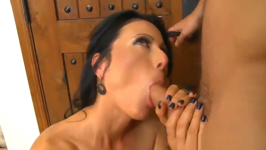 Aged female taking part in hardcore porn scene in office-
