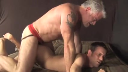 Muscle silver daddy pounds bottom on bed bangladeshi boy and girl fuck