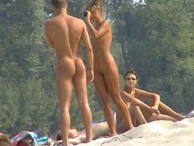 Tasty gorgeous asses relax at the nude beach