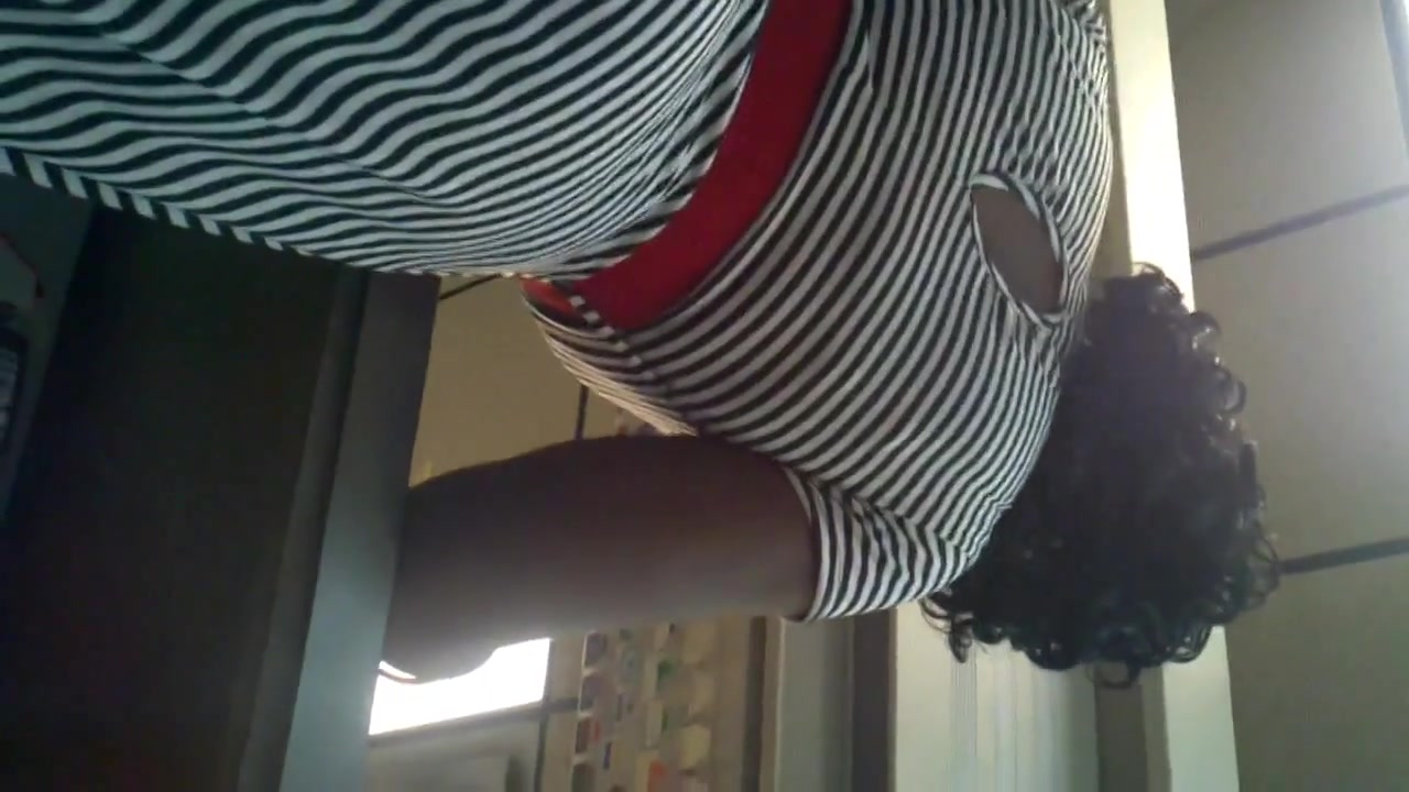 Elegant Ebony in nice skirt featured in library candid Prostitute in Bayamo