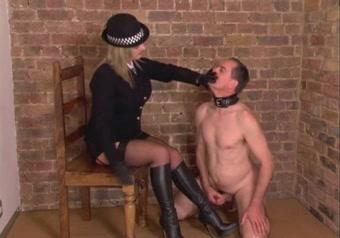 Posh British Mistress makes slave to relieve himself Hunk is bestowing anal pleasures to hawt honey