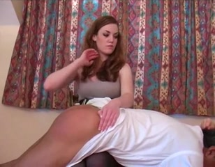Two women spank and humiliate old man Lesbian doing sex in nylon