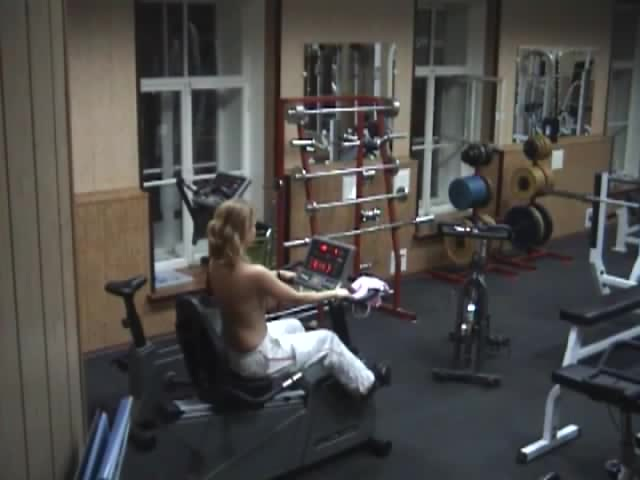 Hidden sex in gym Two raunchy lesbians eat their pussies raw