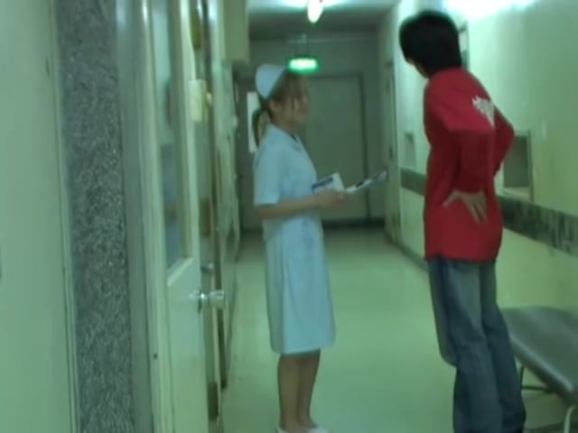 Sharked girl in nurse uniform fell on the floor Videosex girl fucking together