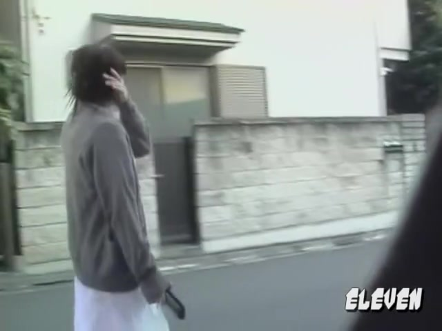 Asian nurse out for lunch got street sharked in public. teens sex receiving naked