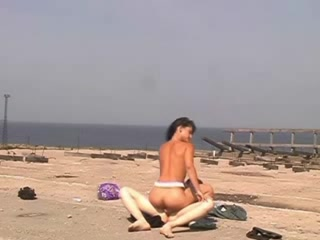 Naked Beach - Legal Age Teenager snatch with CIM Facial - self filmed Cations femdom cum