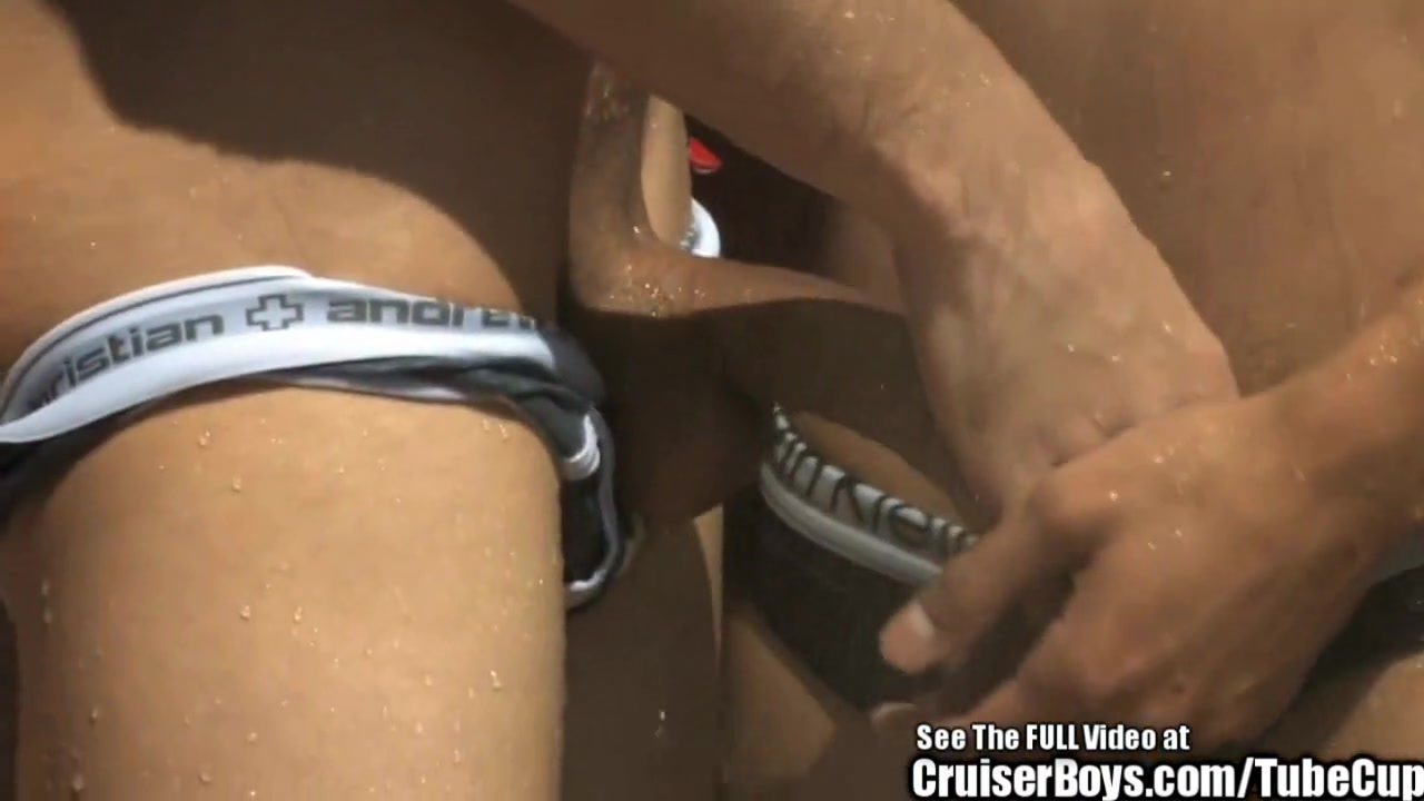 Two Hunky Dudes Butt Fuck Furiously Lesbo Strapon Tube