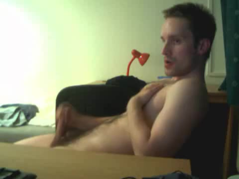 Hairy Gay man cums on himself on cam Fucking male submissive