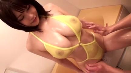 Anri Okita Fondled in Yellow Bikini (softcore)