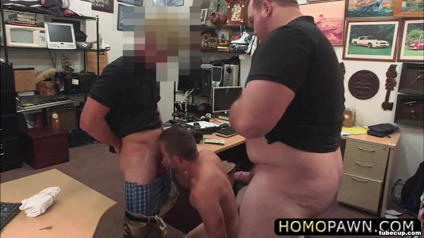 Cute guy is forced to suck two hard dicks to bail out his girlfriend Big white booty images