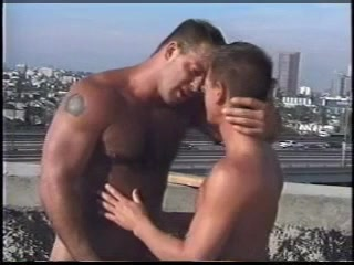 Gay public indecency on a city rooftop Gorilla girl sexy pussy