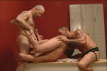 3 men fucking hard in the locker room. free porn no pay