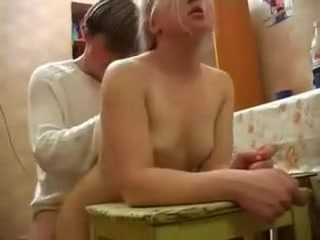 Inexperienced bitch in the Kitchen pussy free boob movie