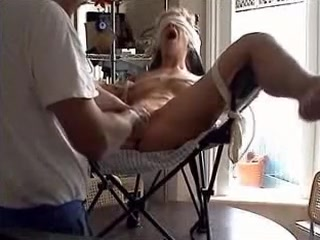 Fastened Up Wench In The Chair footjob at spa reddit